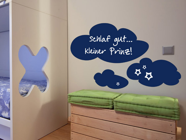 tafelfolie wolke wandtattoo f rs kinderzimmer. Black Bedroom Furniture Sets. Home Design Ideas
