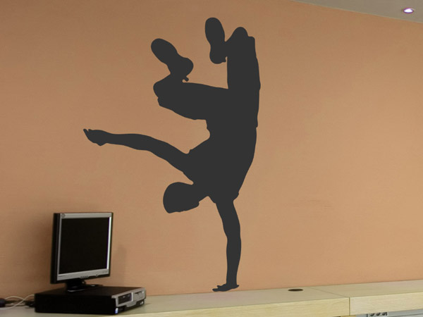 wandtattoo breakdancer. Black Bedroom Furniture Sets. Home Design Ideas