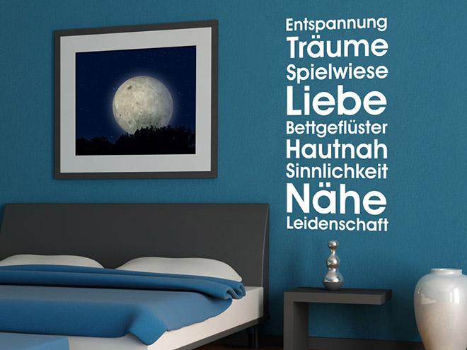 Wandaufkleber Schlafzimmer Träume Wandtattoo bei Wandtattoos.de