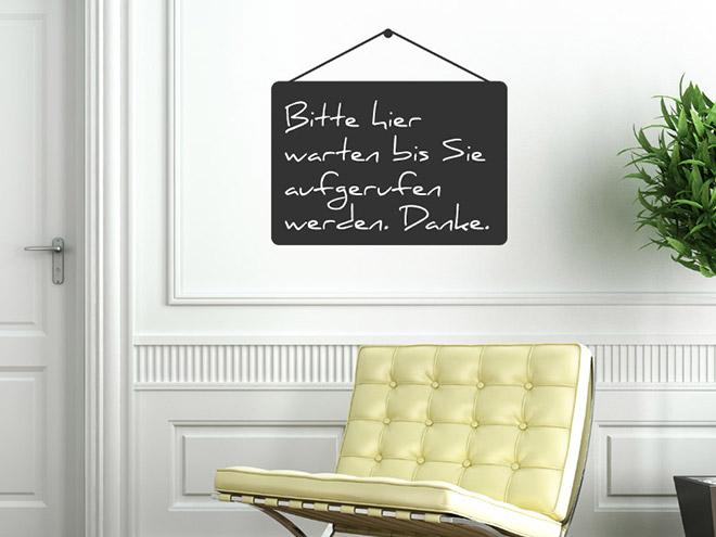 tafelfolie aufh nger wandtattoo beschreibbar. Black Bedroom Furniture Sets. Home Design Ideas