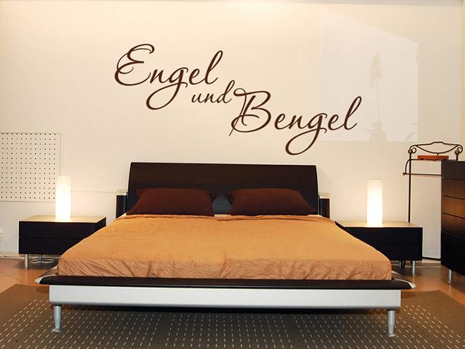 wandtattoo engel und bengel schlafzimmer deko. Black Bedroom Furniture Sets. Home Design Ideas
