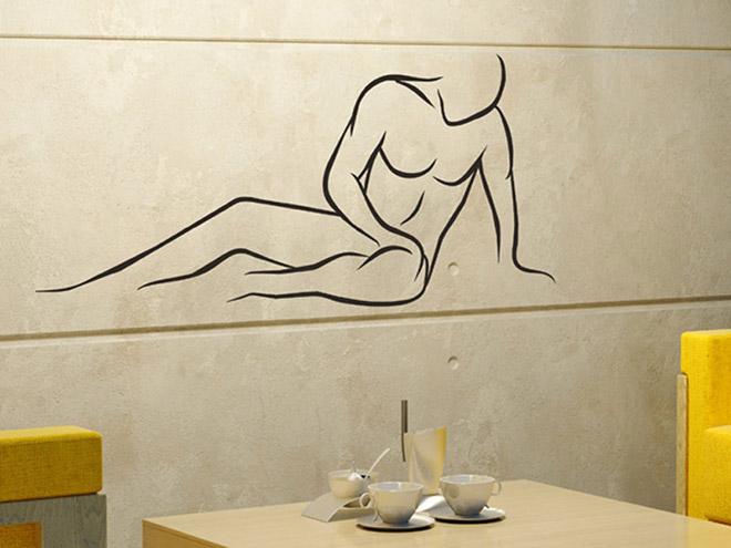 mann liegend wandtattoo mann liegend silhouette bei. Black Bedroom Furniture Sets. Home Design Ideas
