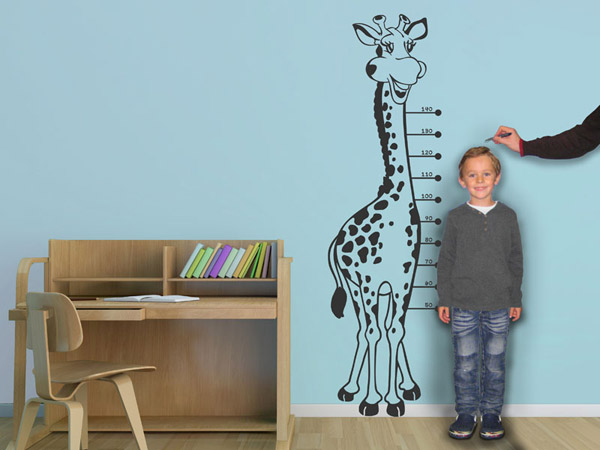 wandtattoo messlatte lustige giraffe. Black Bedroom Furniture Sets. Home Design Ideas