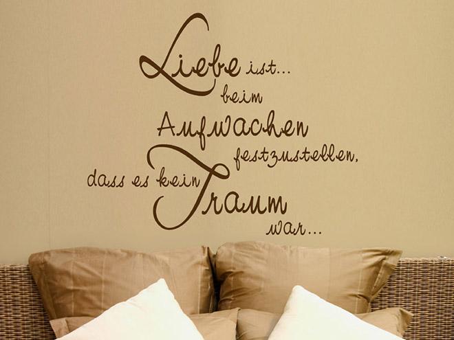 Wandtattoo liebe ist beim aufwachen - Wandtattoo italienische spruche ...