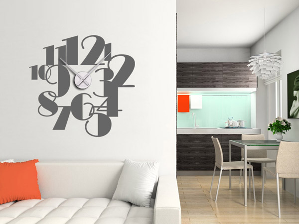wandtattoo uhr gro e zahlen wanduhr ziffern gro. Black Bedroom Furniture Sets. Home Design Ideas