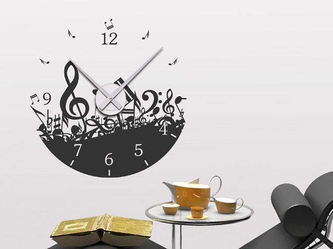 wandtattoo uhr noten musik wanduhr noten musik wandtattoo. Black Bedroom Furniture Sets. Home Design Ideas