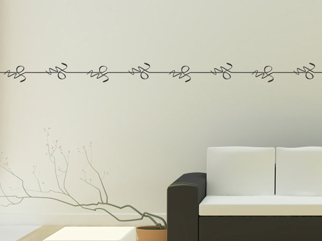 wandtattoo bord re schn rkel modern. Black Bedroom Furniture Sets. Home Design Ideas