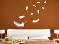 wandtattoo federn wandtattoo feder set feder wandtattoos. Black Bedroom Furniture Sets. Home Design Ideas