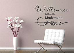 wandtattoo schriftzug willkommen willkommen. Black Bedroom Furniture Sets. Home Design Ideas