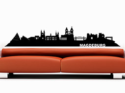 wandtattoo skyline erfurt umrisse. Black Bedroom Furniture Sets. Home Design Ideas