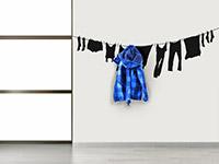 wandtattoo garderobe w scheleine mit wandhaken. Black Bedroom Furniture Sets. Home Design Ideas
