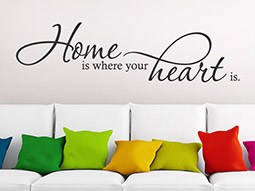 Wandtattoo Home is where your heart...