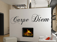 spruch wall sticker sprichwort latein zitat. Black Bedroom Furniture Sets. Home Design Ideas