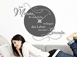 wandtattoo wanduhr weltkarte wandtattoo welt uhr bei. Black Bedroom Furniture Sets. Home Design Ideas