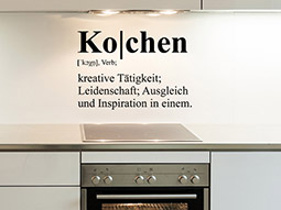Wandtattoo Definition Kochen