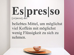 Wandtattoo Definition Espresso