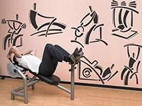 wandtattoo fitness begriffe von. Black Bedroom Furniture Sets. Home Design Ideas