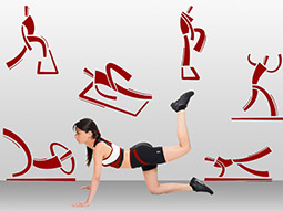 Wandtattoo Aerobic Fitness Studio Set