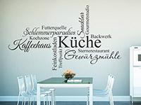 Elegant Wandtattoo Begriffe Für Die Küche