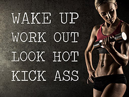Wandtattoo Wake up Work out