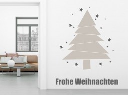 wandtattoo sterne tannenbaum frohe weihnachten. Black Bedroom Furniture Sets. Home Design Ideas