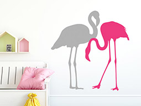 Wandtattoo flamingos 2 st ck als set - Flamingo wandtattoo ...