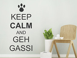 Wandtattoo Keep calm and geh Gassi