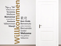 Wandtattoo Zweifarbiges Willkommen Mehrsprachig