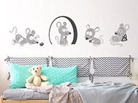 wandtattoo freche m use f rs kinderzimmer. Black Bedroom Furniture Sets. Home Design Ideas