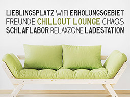 Wandtattoo Bordüre Chillout Lounge