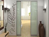 wandtattoo flur flurwand einladend gestalten. Black Bedroom Furniture Sets. Home Design Ideas