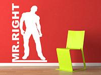 mr right wandtattoo bodybuilder mann bei. Black Bedroom Furniture Sets. Home Design Ideas