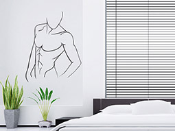 wandtattoo liegender mann sinnliche silhouette. Black Bedroom Furniture Sets. Home Design Ideas