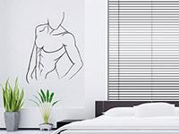 waschbrettbauch wandtattoo sexy mann bei. Black Bedroom Furniture Sets. Home Design Ideas