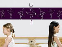 Wandbanner ballerinas wandtattoo ballett for Zimmerdeko london