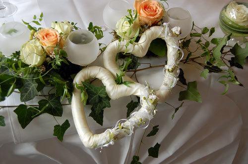 Herz Dekoration Hochzeitstisch