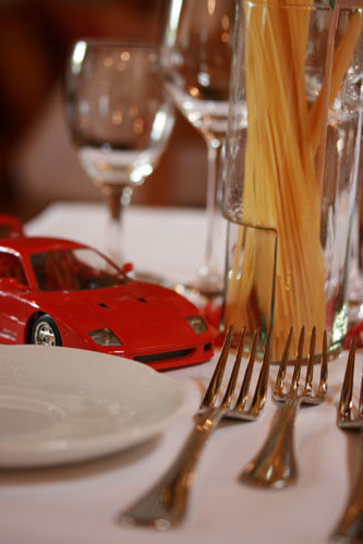 Italienische Tischdekoration