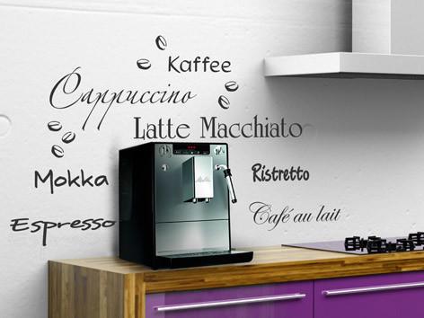 Wandtattoo Kaffee Variante 1