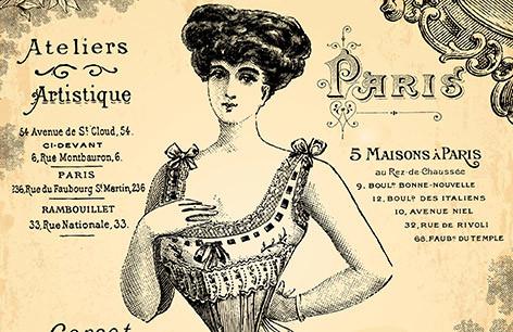 altes Werbeplakat mit verschiedenen Schriften